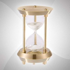 SuLiao brass metal hourglass timer sand clock 5 minutes